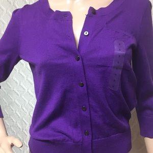 Lightweight Purple Cardigan Small